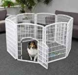 IRIS Indoor/Outdoor Plastic Pet Pen, 8 Panels