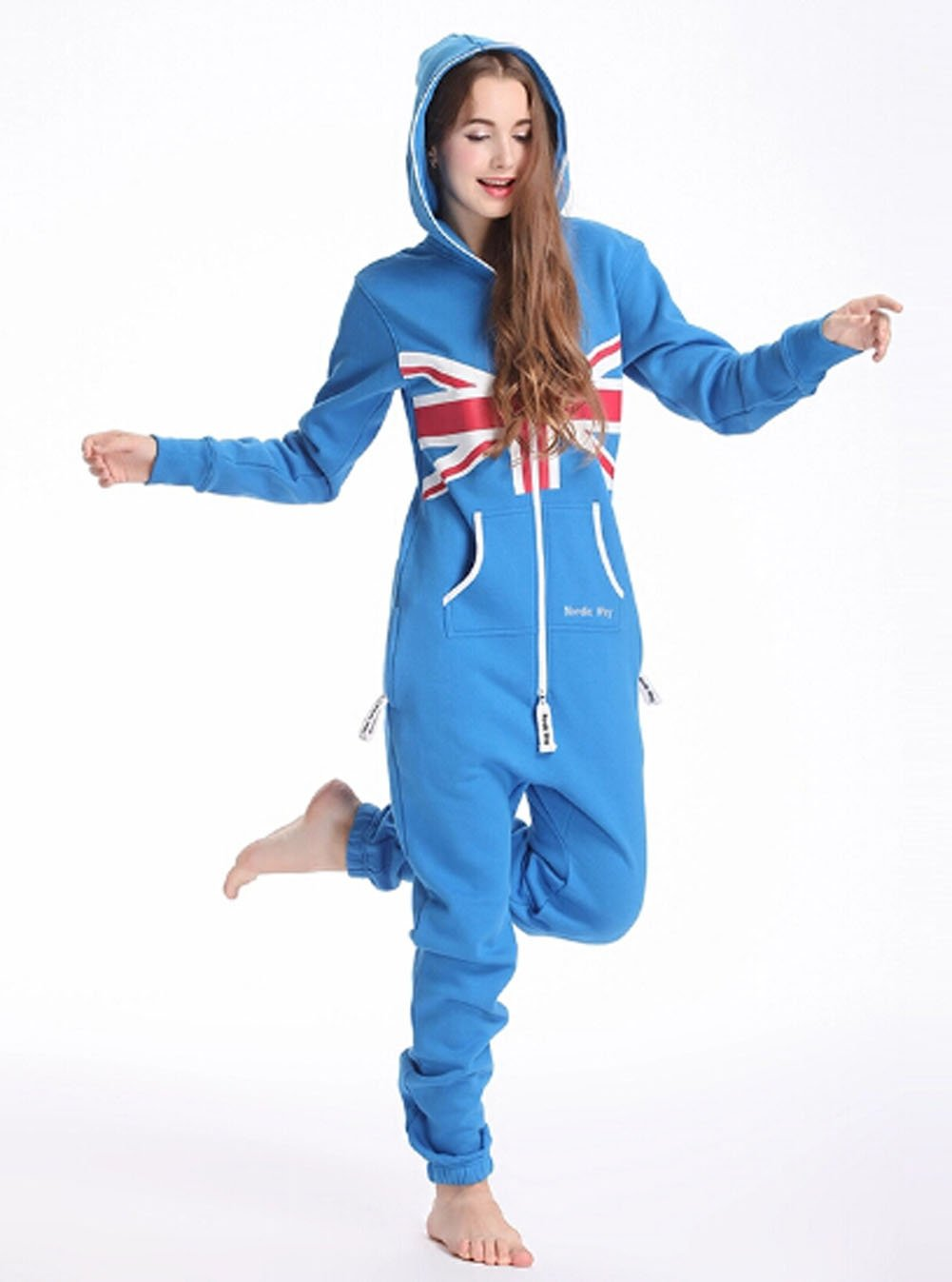 England UnionJack Flag Adults Theme Onesie Jumpsuit