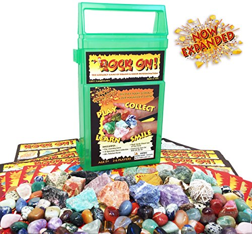 ROCK ON! Geology Game with Rock & Mineral Collection - Connect with Our Magnificent Earth via an Educational Game & Science Kit