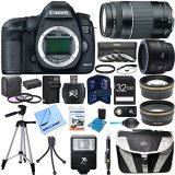 EOS-5D-Mark-III-223-MP-Full-Frame-CMOS-Digital-SLR-Camera-Body-Super-Bundle-includes-EOS-5D-Mark-III-Camera-Body-50mm-Lens-75-300mm-Lens-58mm-UV-Filter-32GB-Memory-Card-Card-Reader-Tripod-Gadget-Bag-C