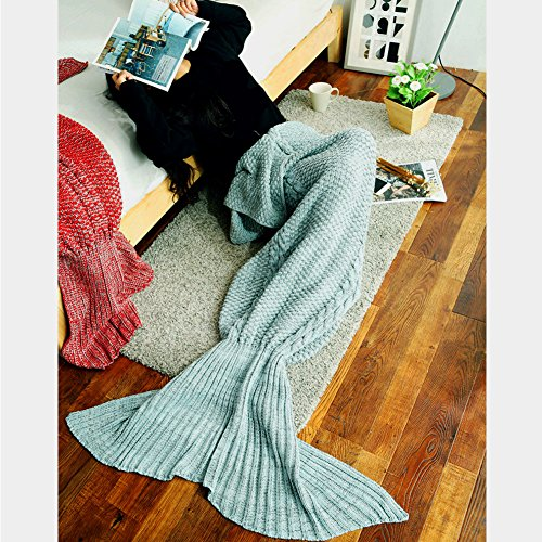 ZQL Meerjungfrau Decke Handgemachte Häkeln Schwanz Decke Sofa Schlafdecke, Weiche Strick Mermaid Schwanz Schlafsack für Erwachsene, All Season Schlafsack