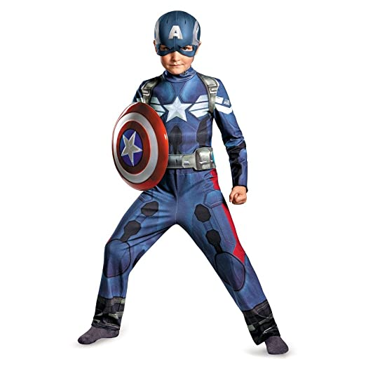 Disguise Marvel Captain America The Winter Soldier Movie 2 Captain America Classic Boys Costume, Large (10-12)