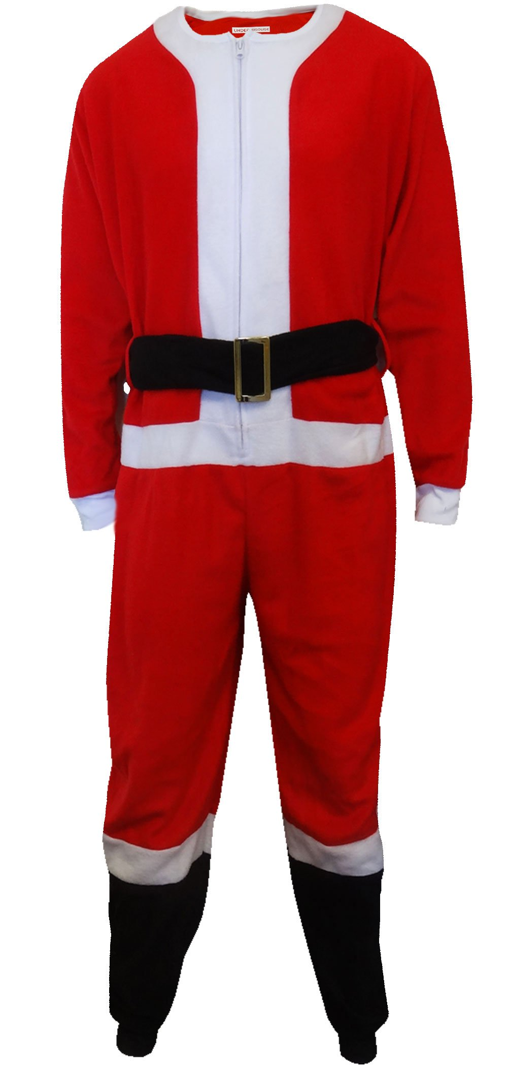 Santa Suit Fleece Men's One Piece Pajama for men