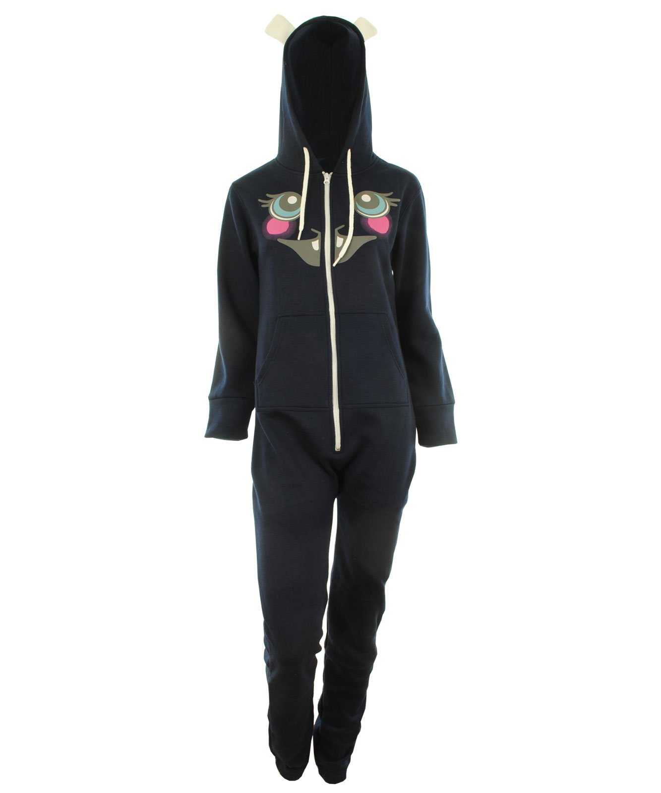 GG Womens Kirnea Unisex Easter Bunny Hooded Jumpsuit Onesie