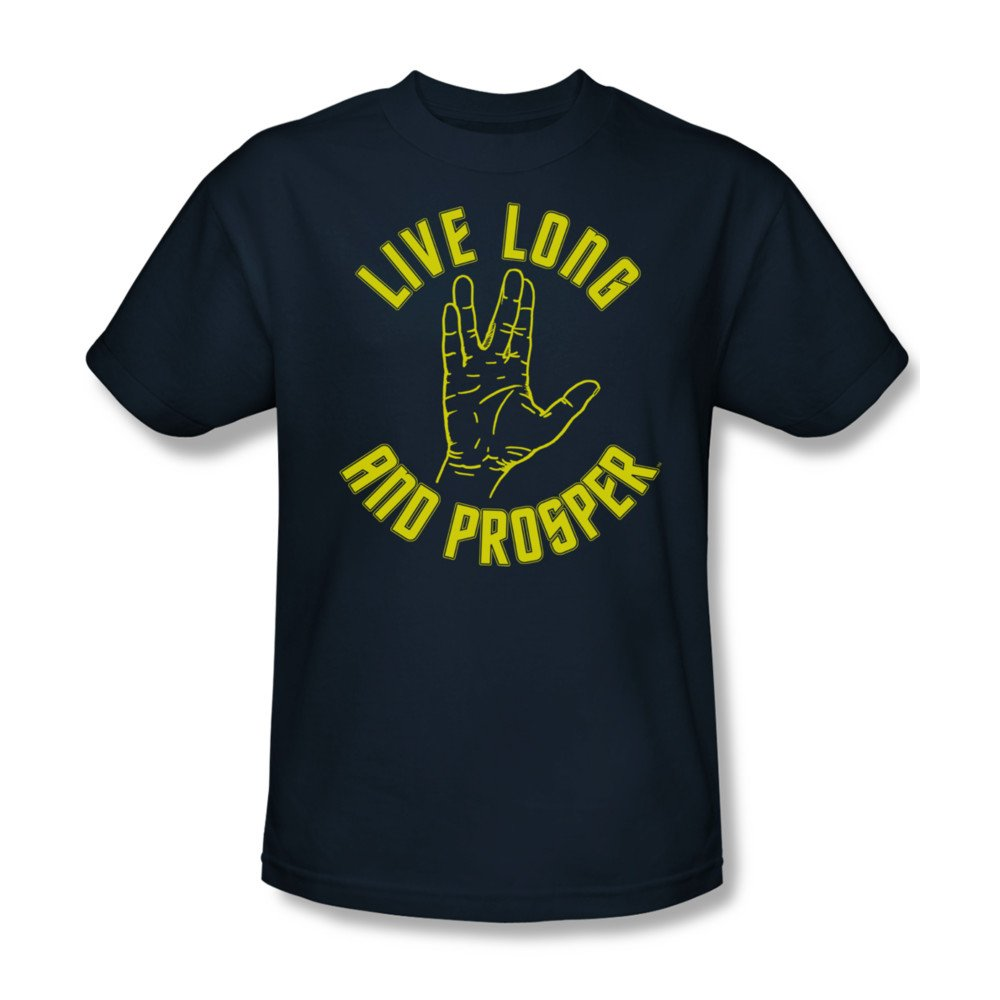Star Trek T-Shirt Live Long and Prosper Original Series Navy T Shirt