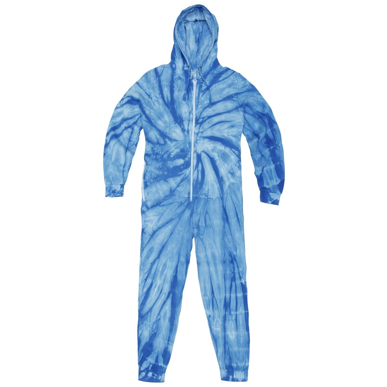 Unisex Adults Full Zip Tonal Spider Tie Dye Onesie