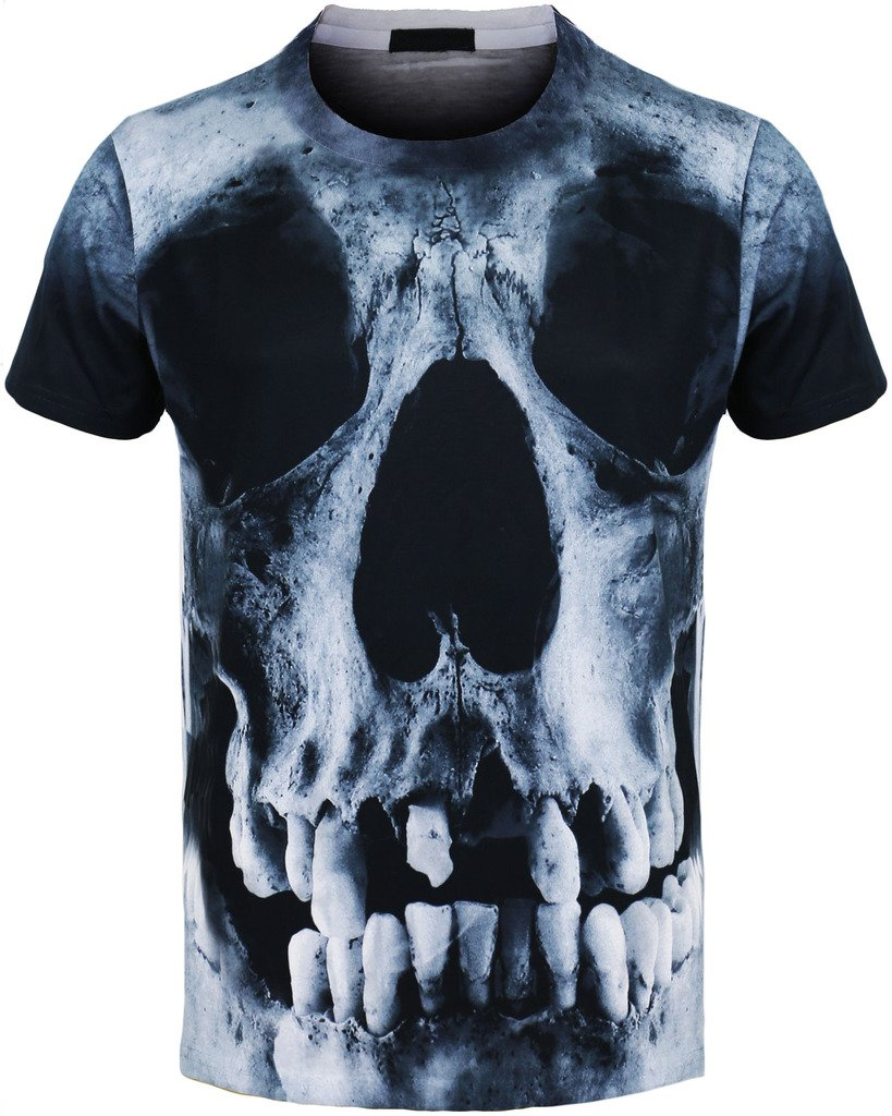 SKULL URBAN ICON MEN'S SUBLIMATION PRINT T-SHIRTS