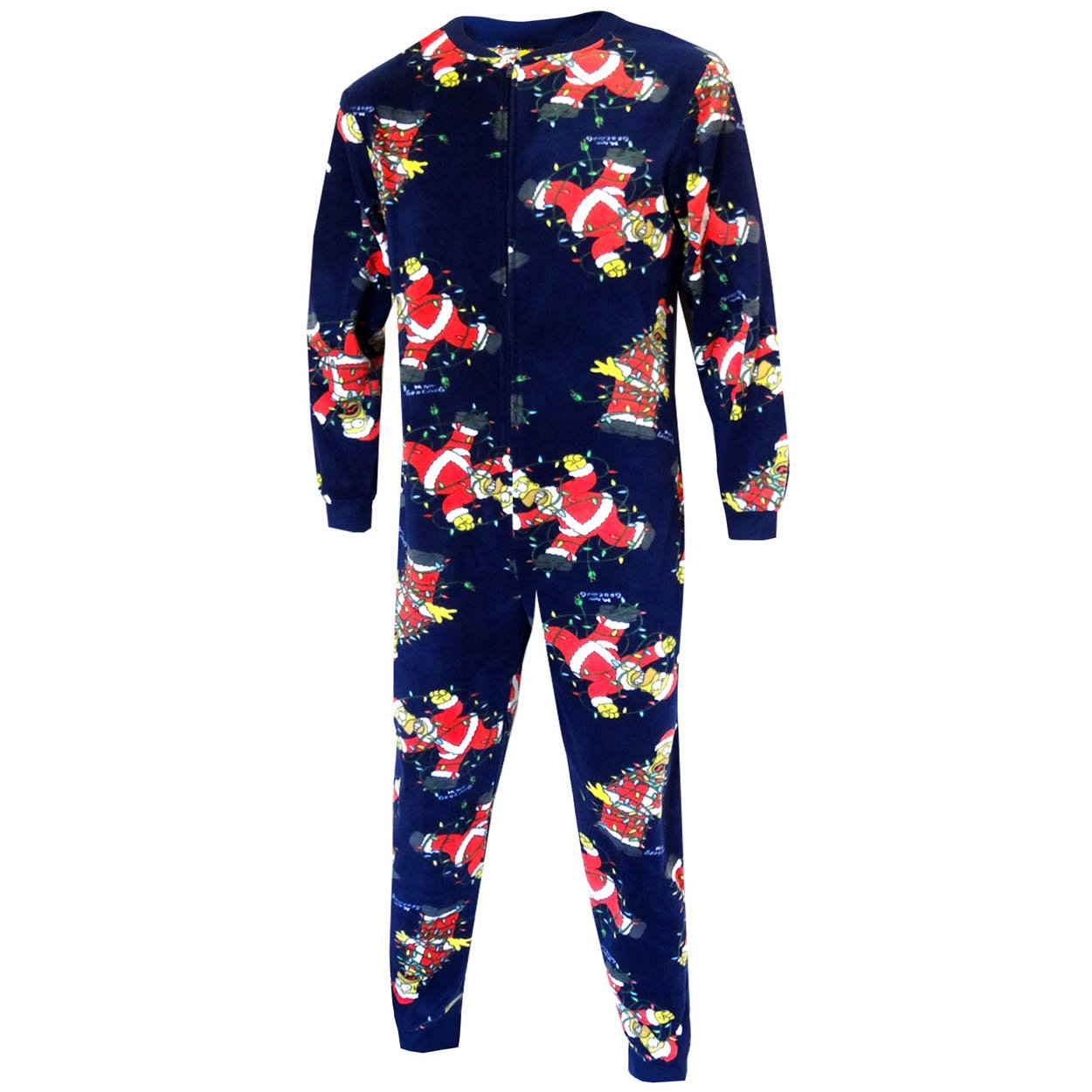 The Simpsons Homer Mens Fleece Union Suit Pajamas