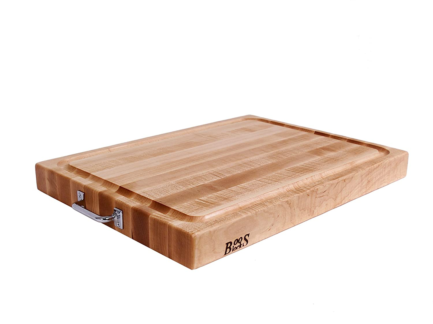 Reversible Cutting Board with Chrome Handles