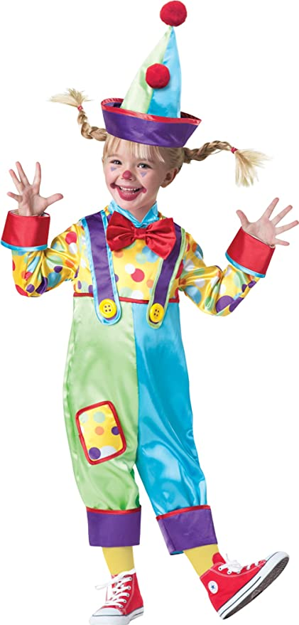 InCharacter Baby's Clown Costume, Multi, 3T