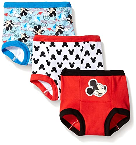 Disney Toddler Boys' Mickey 3 Pack Training Pant, Assorted, 3T