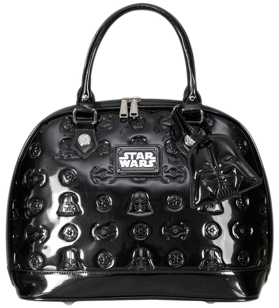 Star Wars Darth Vader Darkside Black Patent Embossed Dome Bag
