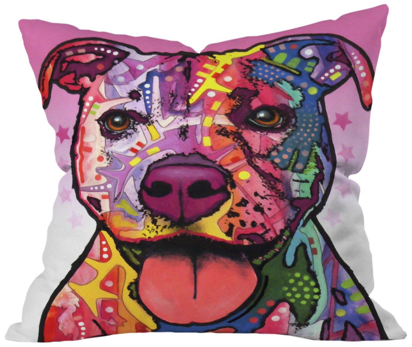 DENY Designs Dean Russo Cherish The Pitbull Throw Pillow, 20 by 20-Inch