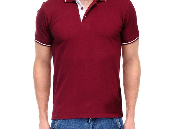 Scott Men's Premium Cotton Polo T-shirt - Maroon