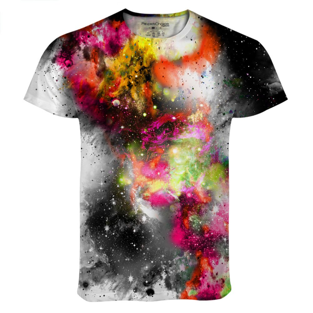 Mens Saturn Galaxy Burn Cosmos All Over Print T Shirt Tee