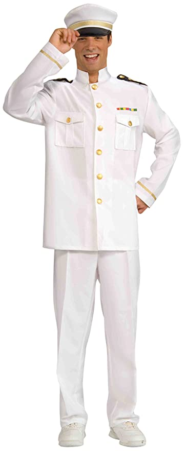 Forum Novelties Men's World War Heroes Navy Officer Jacket, White, One Size