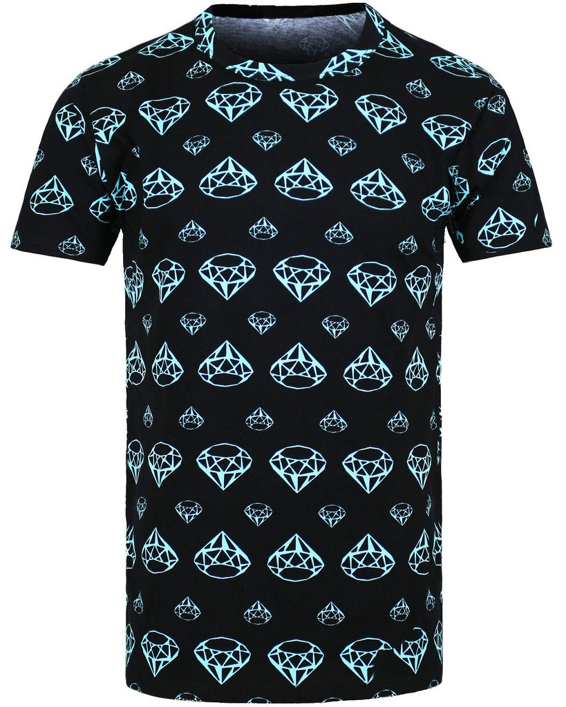 "URBAN ICON MEN'S ALL OVER PRINTED T-SHIRT ""DIAMOND LIFE"""