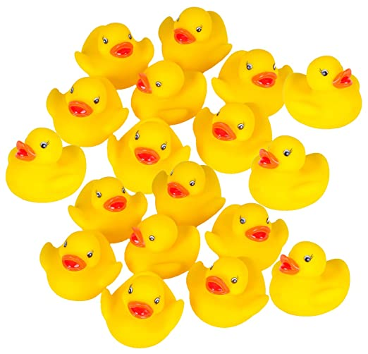 Rubber Duck Baby Bath Toy (18-Pack)