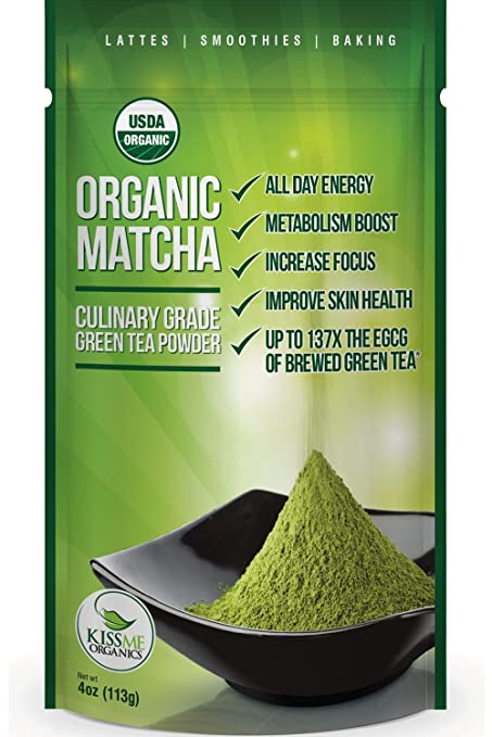 Matcha Green Tea Powder - Powerful Antioxidant Japanese Organic Culinary Grade - 113 grams (4 oz)