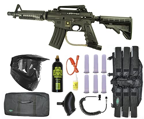 US Army Alpha Black Tactical Paintball Marker Gun Sniper Set – Black