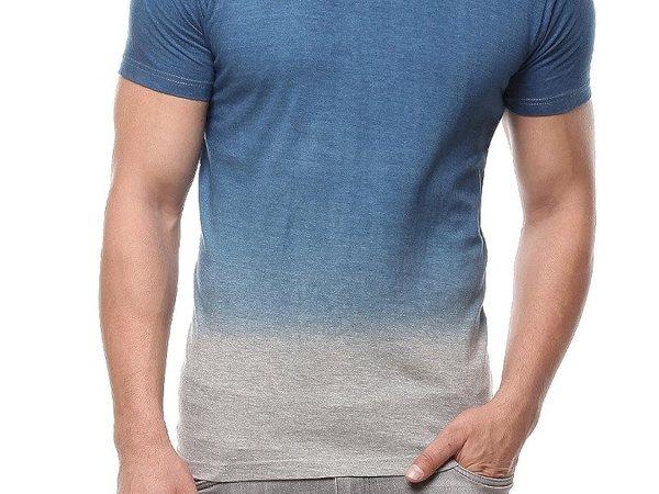 Gritstones Grey Melange Half Sleeve Round Neck T Shirt GSOMBHSRNCKGM