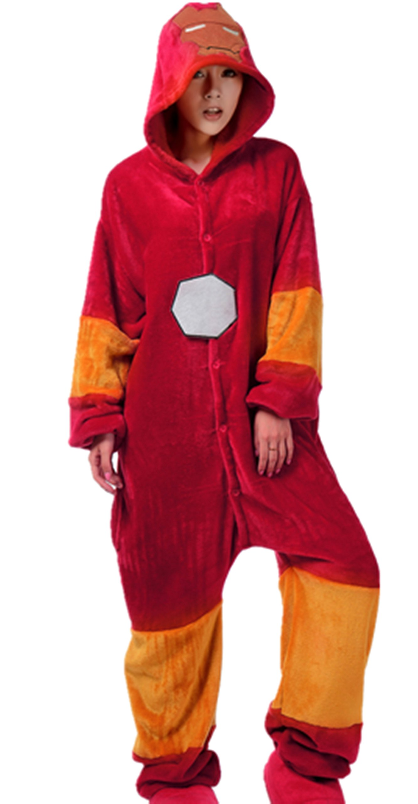Iron Man Kigurumi Pajamas Adult Anime Cosplay Costume Onesies