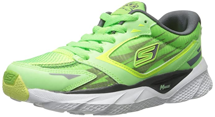 Skechers Kids 95683L Go Run Ride 3 Nite Owl Running Shoe ,Green,12 M US Little Kid