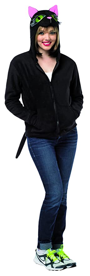 Rasta Imposta Women's Cat Hoodie, Black, Medium