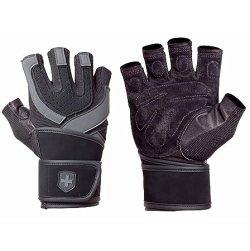 Harbinger 1250 Training Grip WristWrap Glove, Black/Grey