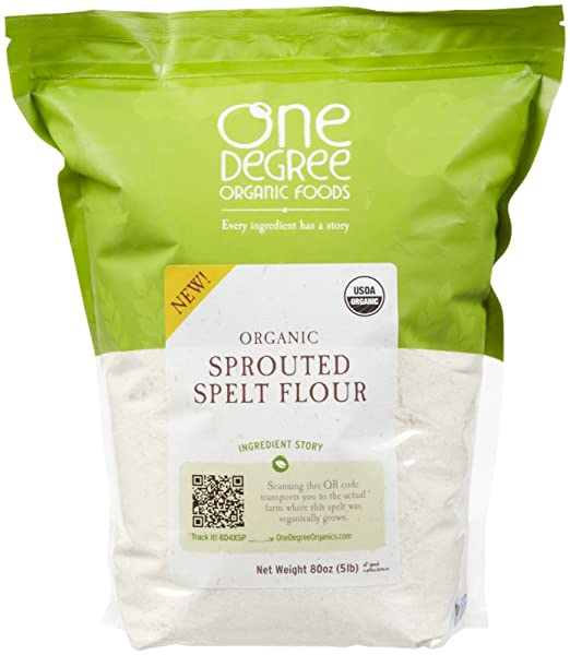 One Degree Organic Foods Organic Sprouted Spelt Flour, 80 oz