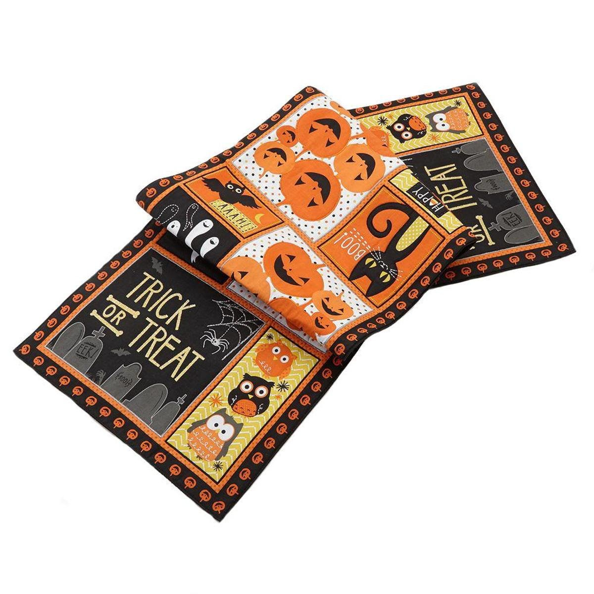 Trick or Treat Halloween Tapestry Table Runner