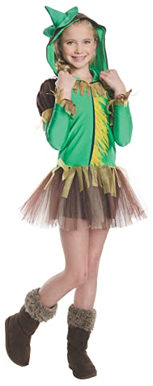 Rubies Wizard of Oz Scarecrow Hoodie Dress Costume, Child Large