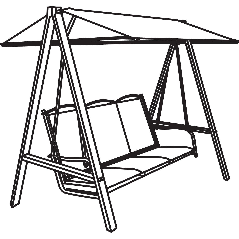 Classic Accessories Veranda Canopy Swing Cover New Free