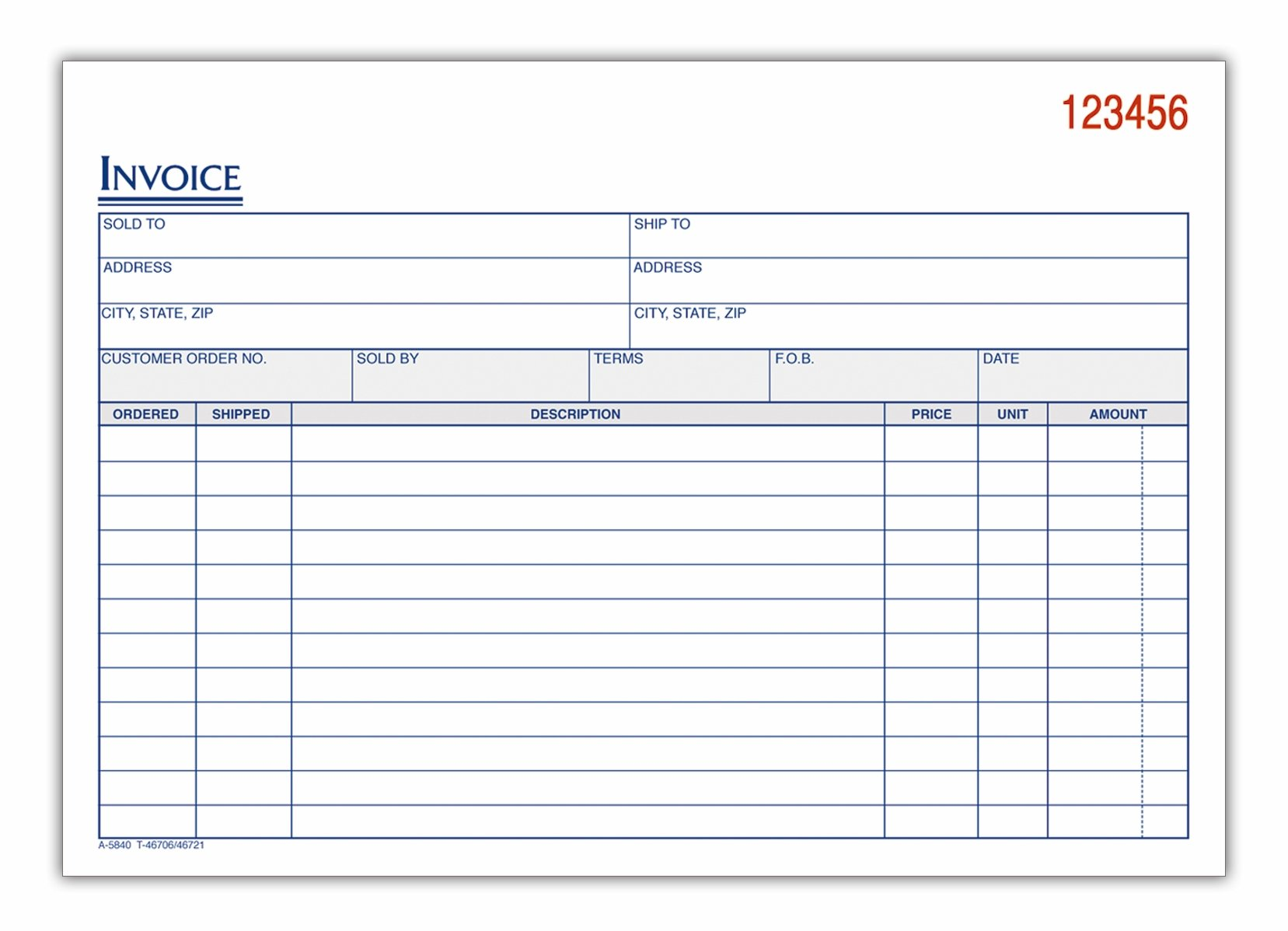 Bill Book Template invoice book vector illustration of a bill pad – Format for a Bill