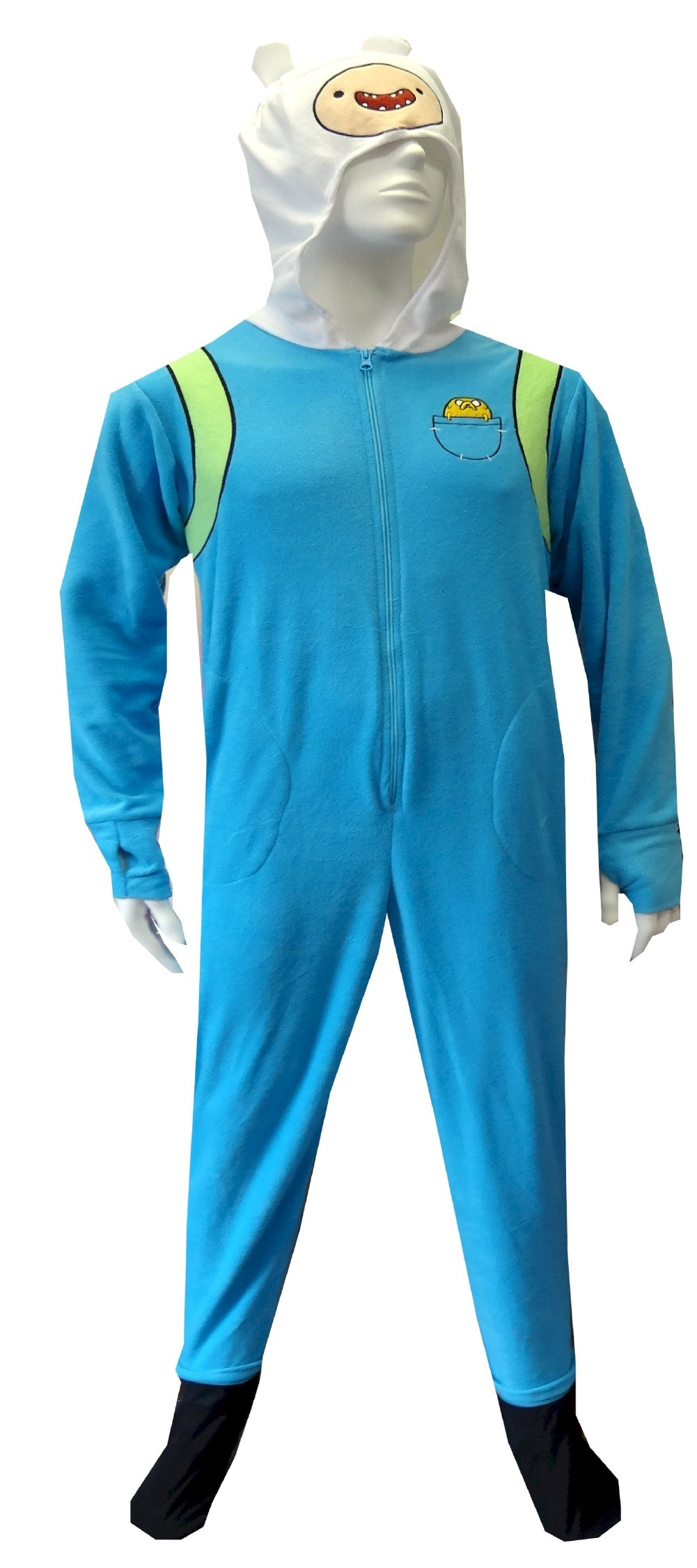 Adventure Time Finn The Human One Piece Footie Pajama for men