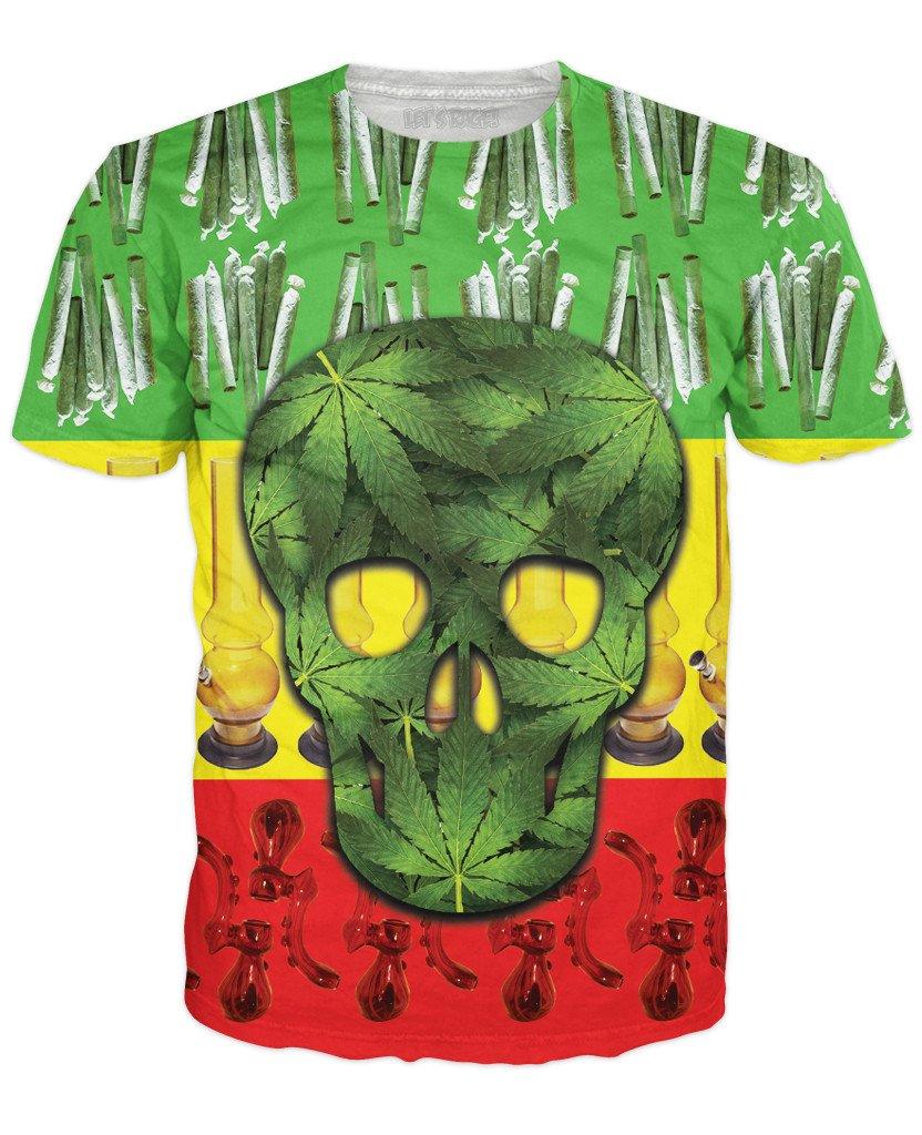 RageOn Men's Rasta Skull T-Shirt