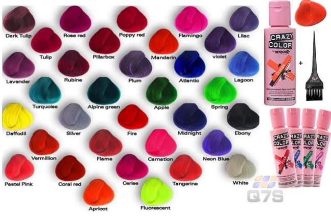 Directions Hair Dye Color Chart