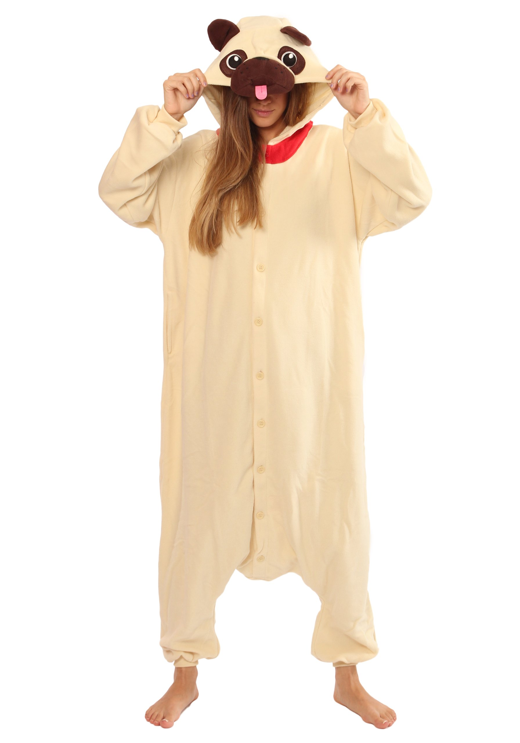 Pug Dog Kigurumi - Adult Costume