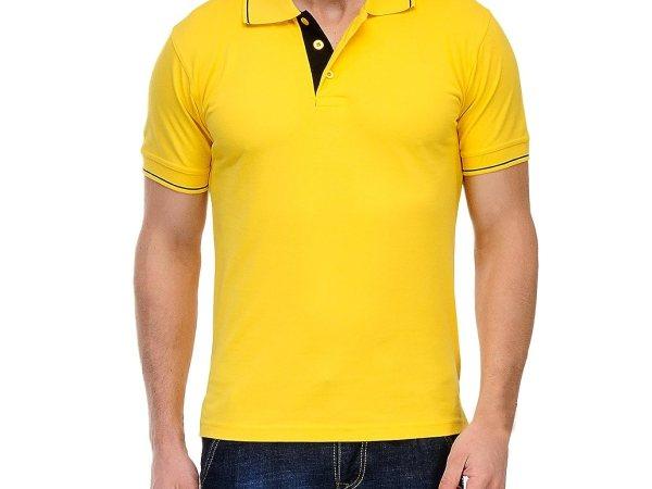 Scott Men's Premium Cotton Polo T-shirt - Yellow