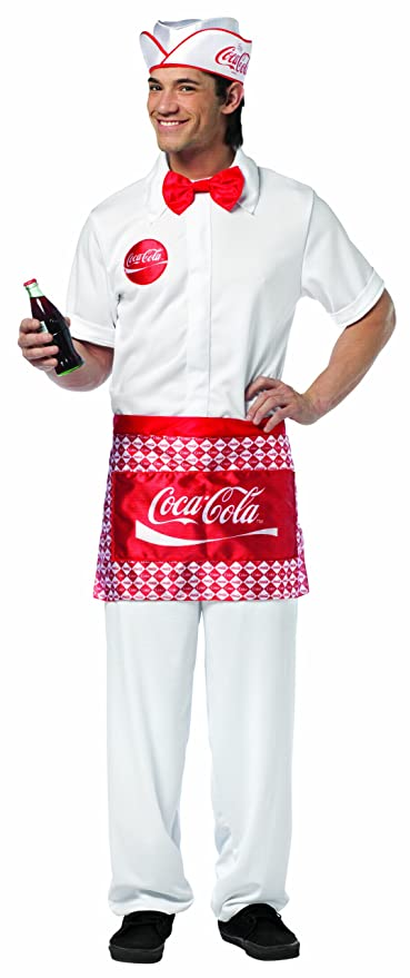 Rasta Imposta Coca-Cola Soda Jerk, White, One Size