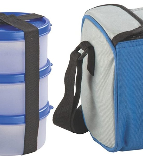 Nayasa Nebula Plastic Lunch Box, 4-Pieces, Blue