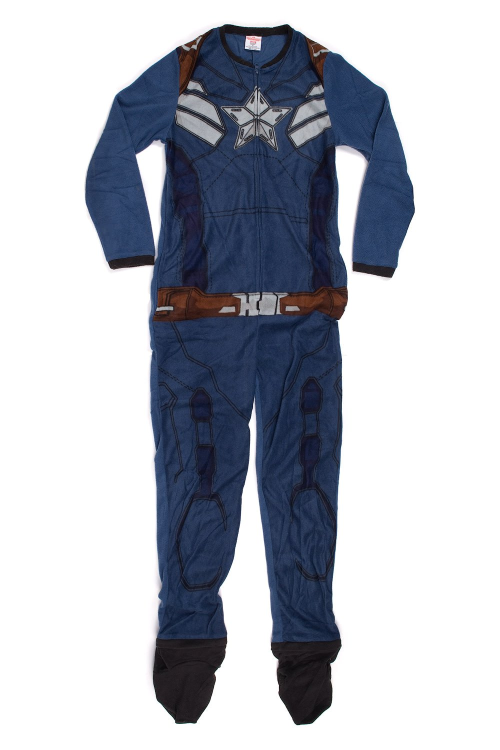 Marvel Comics Captain America Winter Soldier Uniform Onesie Pajama for men