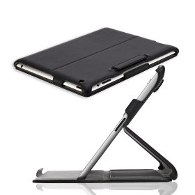 MoKo Slim-Fit Folio Stand Case for Apple New iPad 4 & 3 (3rd and 4th Generation with Retina Dispaly) / IPad 2, Black