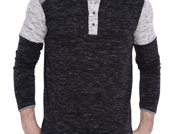 Campus Sutra Men's Henley T-shirt