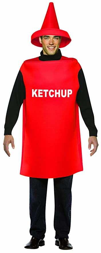 Rasta Imposta Lightweight Ketchup Costume, Red, One Size