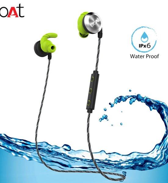 boAt Rockerz 230 In-Ear Bluetooth Headphones with Mic (Silver/Green)
