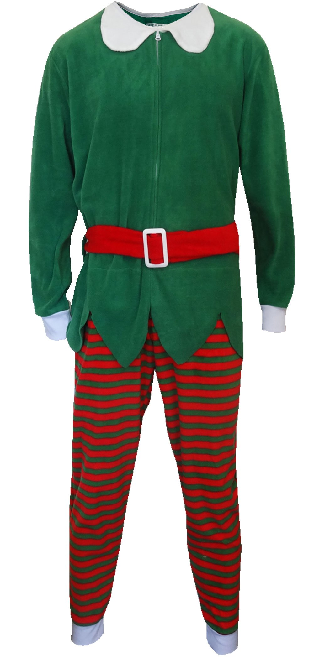 Red And Green Christmas Elf One Piece Pajama for men