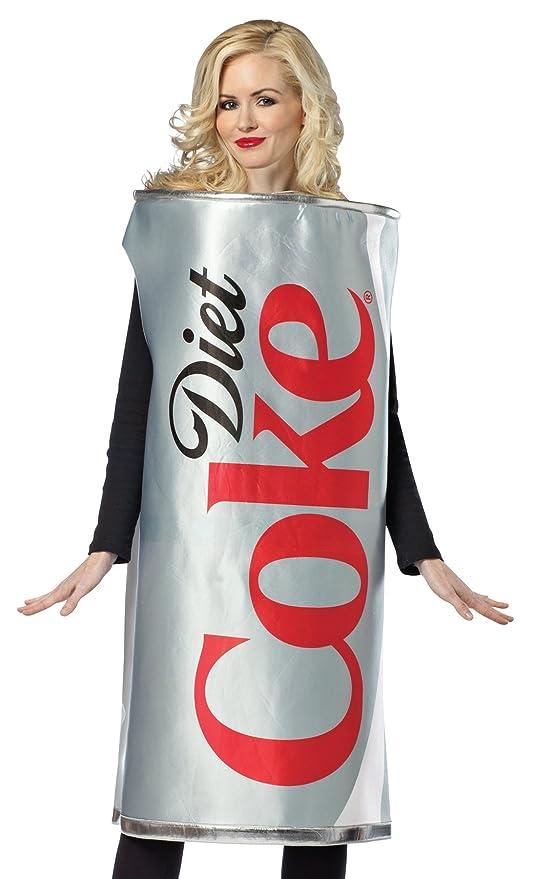 Rasta Imposta Diet Coke Can, Silver, One Size
