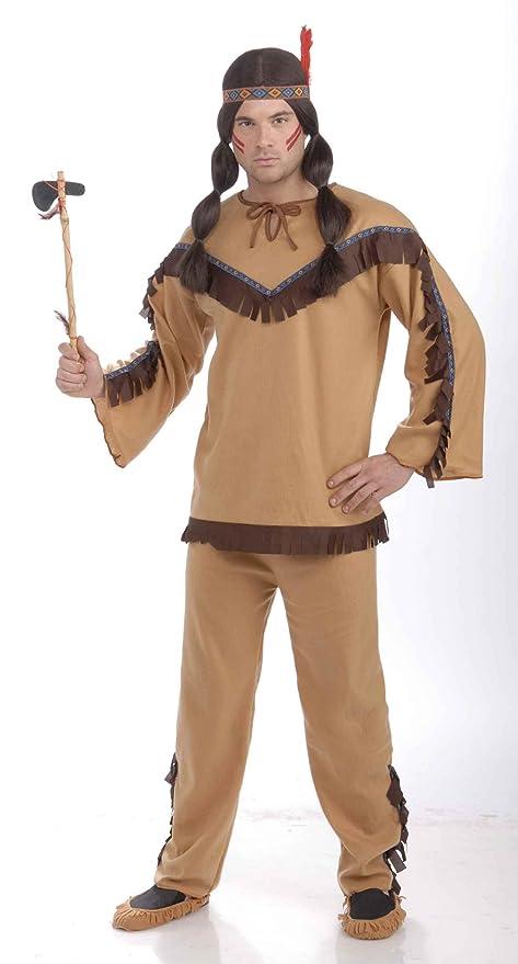 Forum Novelties Men's Adult Native American Brave Costume, Multi Colored, One Size