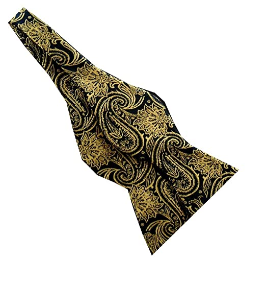 Black Gold Paisley 2.5 Real Silk Self-tie Bow Tie Alpha Phi Alpha